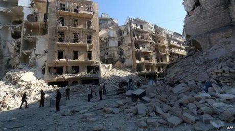 Nga dam bao an toan rut lui cho cho quan noi day o Aleppo - Anh 1