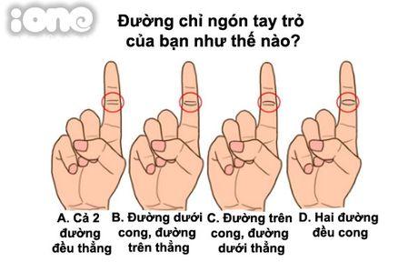 Duong chi ngon tay tro tiet lo dieu gi ve ban - Anh 1