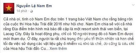 Nam Em noi gi sau thong tin bang ron Miss Earth 2016 nhu hoi cho - Anh 3