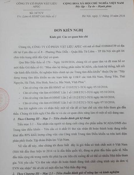Doanh nghiep 'to' Cong ty thi nghiem dien Mien Bac 'uu ai' nha thau - Anh 1