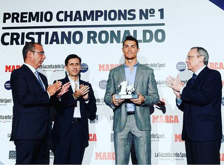 Ronaldo nhan giai cau thu hay nhat Champions League - Anh 1