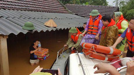 Nguoi va gia suc thao chay len duong Ho Chi Minh moi thoat lu - Anh 3
