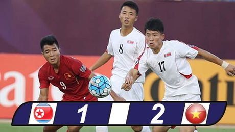 U19 Viet Nam gay soc danh bai U19 CHDCND Trieu Tien o VCK U19 chau A - Anh 1