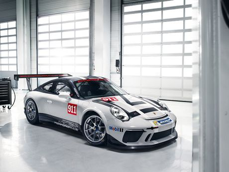 Porsche 911 GT3 Cup duoc trang bi he thong lai toi tan - Anh 2