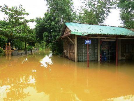 Thua Thien-Hue: Giao thong chia cat, nguoi dan di lai bang thuyen - Anh 3