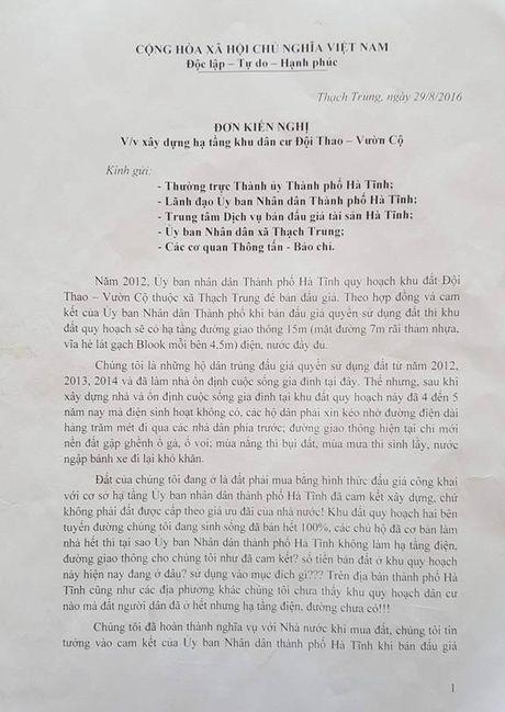 Ha Tinh: Nguoi dan 'to' chinh quyen co tinh pha bo cam ket - Anh 2