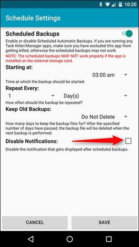 Backup tin nhan SMS vao email, Dropbox, Google Drive - Anh 16