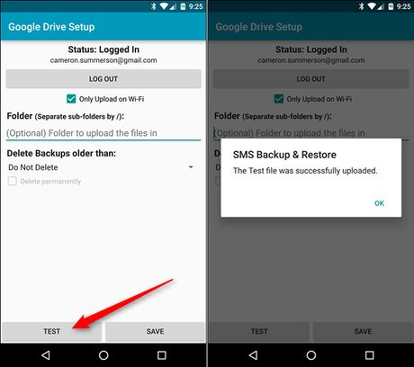 Backup tin nhan SMS vao email, Dropbox, Google Drive - Anh 9