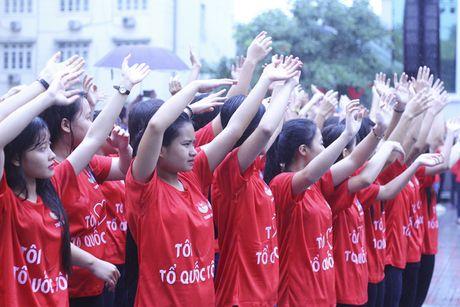 Hon 5000 sinh vien doi mua xep hinh tai chuong trinh 'Toi yeu to quoc toi' - Anh 3