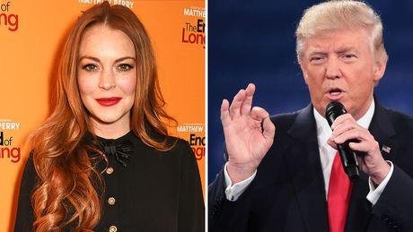 Donald Trump binh luan khiem nha ve Lindsay Lohan - Anh 1