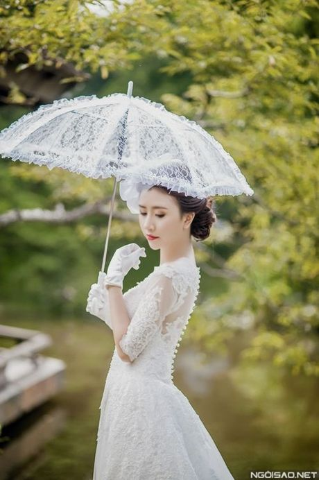 Hot girl Viet dien vay cuoi xinh dep du chua muon lay chong - Anh 7