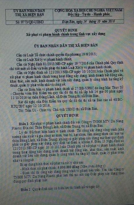 Nha may san xuat bao bi xay trai phep: Phat 5 trieu - Anh 2
