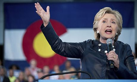Hillary Clinton but pha truoc tran tranh luan truc tiep cuoi cung - Anh 1