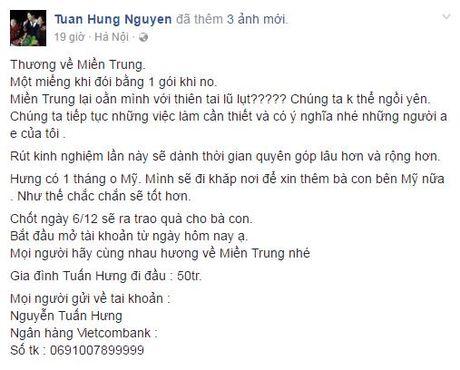 Sao Viet va nhung tam long 'thuong ve mien Trung' - Anh 3