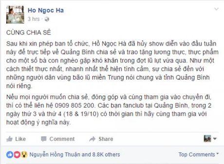 Ha Ho, Phan Anh keu goi ung ho mien Trung: Long tot loai bo su on ao - Anh 2