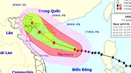 Bao so 7 cach Hoang Sa 260km, gio giat cap 16 - Anh 1