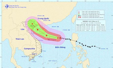 Bao so 7 di chuyen nhanh ve phia dat lien Viet Nam - Anh 1