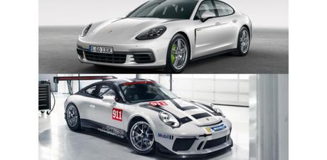 Panamera 4 E-Hybrid va sieu xe dua 911 GT3 Cup ra mat tai Phap - Anh 1