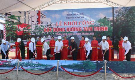 Ha Noi: Chinh thuc khoi cong xay dung duong Tam Trinh - Anh 1