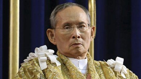 Bo truong Bo Quoc phong dat vong hoa vieng Nha Vua Thai Lan - Anh 1