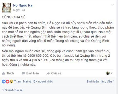 Nghe si Viet keu goi quyen gop huong ve mien Trung - Anh 1