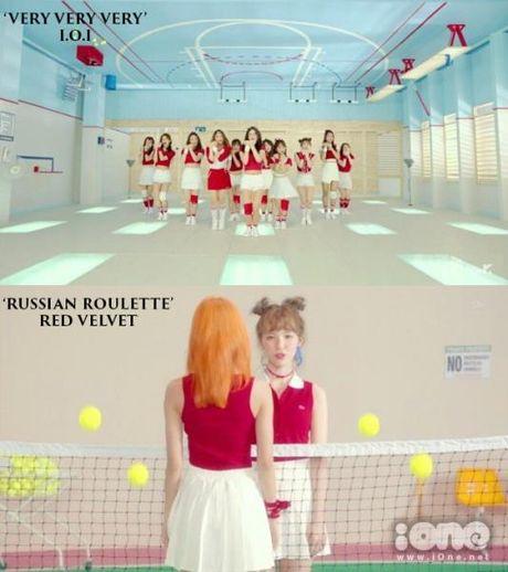 MV moi cua I.O.I bi nghi triet de bat chuoc Red Velvet - Anh 1