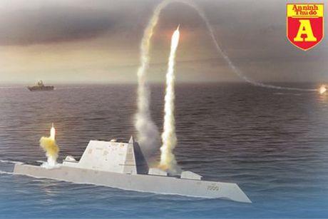 USS Zumwalt – Moc son mo ra ky nguyen tau chien tuong lai - Anh 1