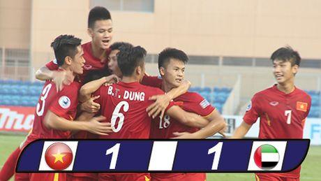 Hoa U19 UAE, U19 Viet Nam van rong cua vao tu ket - Anh 1