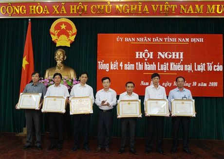 Nam Dinh tong ket 4 nam thi hanh Luat Khieu nai, Luat To cao - Anh 3