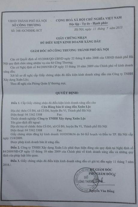 Ba Vi: Cay xang Xuan Loc bi 'to' xay dung khong phep? - Anh 2