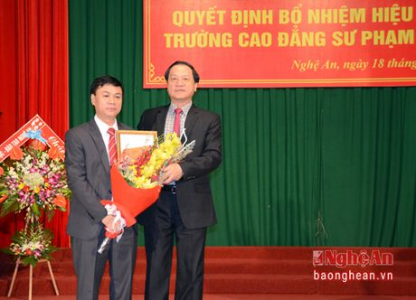 PGS.TS Luu Tien Hung giu chuc hieu truong Truong Cao dang Su pham Nghe An - Anh 1