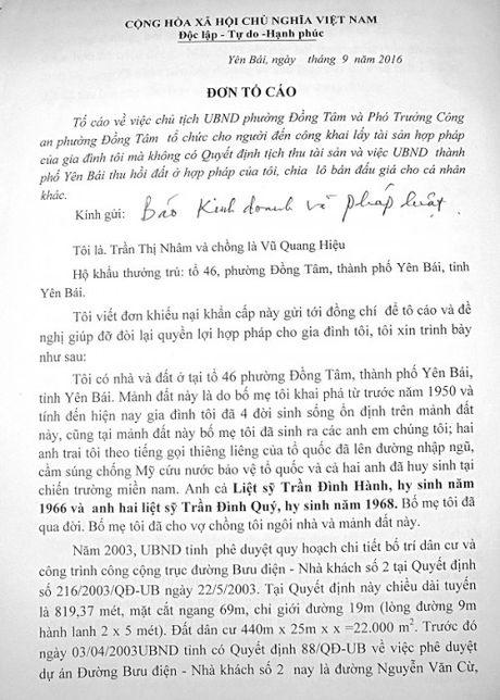 Yen Bai: Lam mot con duong, 2 lan ra quyet dinh thu hoi dat - Anh 1
