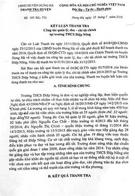 Thai Binh: Lam ro don khieu nai cua giao vien voi hieu truong - Anh 1