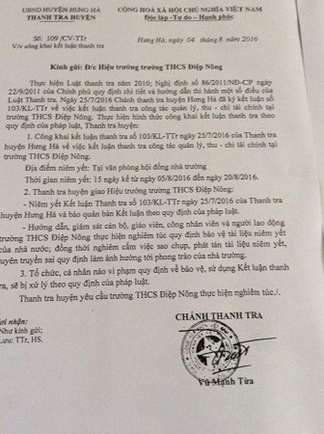Thai Binh: Lam ro don khieu nai cua giao vien voi hieu truong - Anh 2