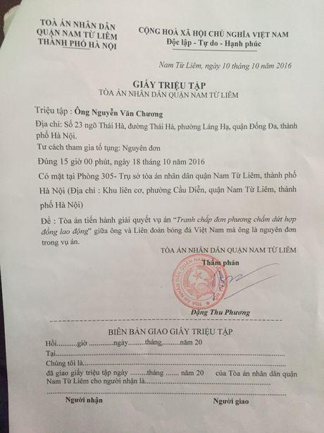 Nguyen quyen Giam doc TT dao tao bong da tre kien lanh dao VFF: Dat nhau ra toa - Anh 2