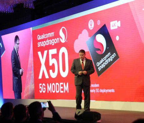 Qualcomm gioi thieu modem 5G dau tien tren the gioi - Anh 1