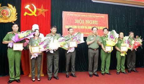 Dang bo Cong an Trung uong: Giao ban cong tac kiem tra, giam sat va thi hanh ky luat cua Dang quy III nam 2016 - Anh 1