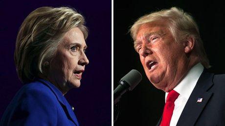 Truoc them cuoc tranh luan cuoi cung, ba H.Clinton dan truoc ong D.Trump - Anh 1
