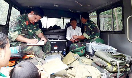 Su doan 324 kham chua benh, phat thuoc mien phi cho nguoi vung lu - Anh 1