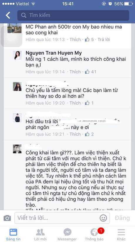 A hau Huyen My noi gi khi bi so sanh tien tu thien voi Phan Anh? - Anh 2