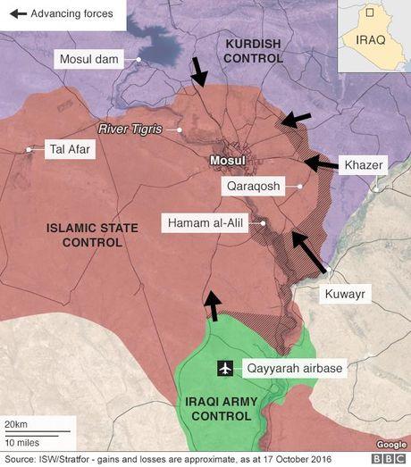Khung bo IS dung dan thuong lam 'la chan' trong cuoc chien tai Mosul - Anh 2
