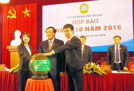 Khai truong Trang dien tu ve an le cua TANDTC - Anh 1