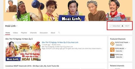 NSUT Hoai Linh dat nut Play bac cua YouTube - Anh 2