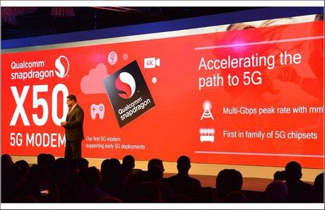 Qualcomm gioi thieu chip modem 5G Snapdragon X50 - Anh 1
