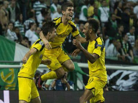 Dortmund co chien thang de dang 2 - 1 truoc Sporting - Anh 1