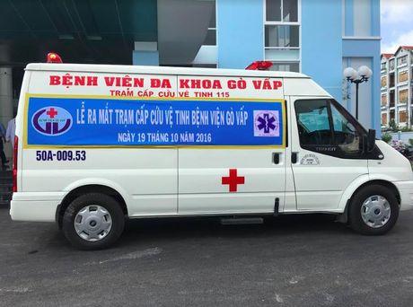 TP. HCM chinh thuc ra mat tram cap cuu ve tinh 115 tai Benh vien quan Go Vap - Anh 2