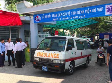 TP. HCM chinh thuc ra mat tram cap cuu ve tinh 115 tai Benh vien quan Go Vap - Anh 3