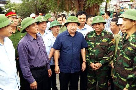 Pho Thu tuong thi sat chong bao so 7 tai Hai Phong, Quang Ninh - Anh 1