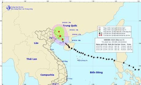 Bao so 7 can quet bien Quang Ninh tu 1 gio chieu nay - Anh 1