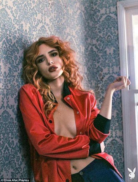 'Cong chua Disney' Bella Thorne ho bao tren tap chi Playboy - Anh 1